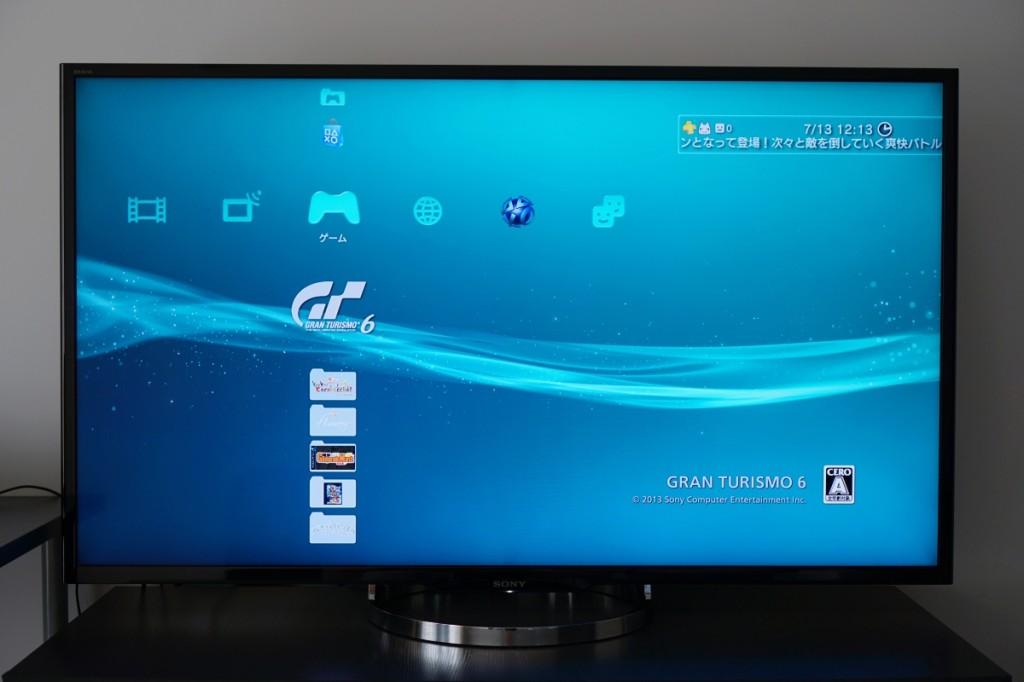 连接 PS3 时,4K 画质增强的效果还算不错,文字边缘基本平滑