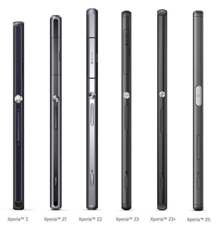 Xperia Z 系列三年的设计风格渐变 *
